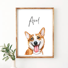 Load image into Gallery viewer, Corgi Dog Print - Wildfig & Co