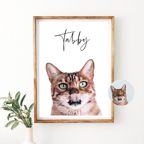 Custom Cat Print - Wildfig & Co