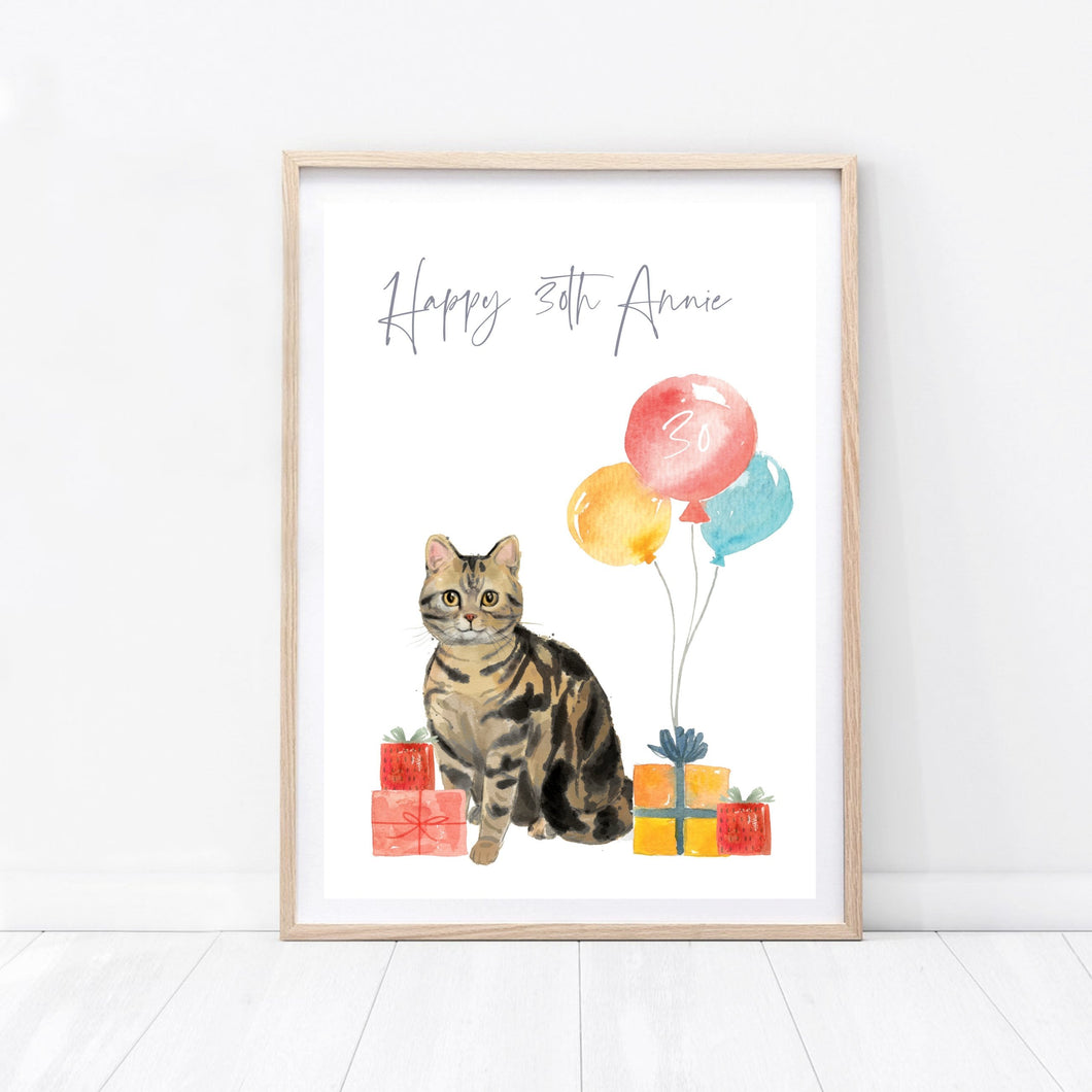 Cat Print Birthday - Wildfig & Co
