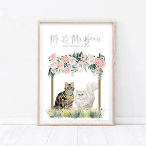 Wedding Cat Print - Wildfig & Co