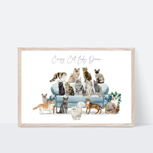 Crazy Cat Lady Print - Wildfig & Co