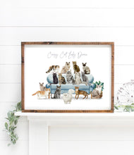 Load image into Gallery viewer, Crazy Cat Lady Print - Wildfig & Co
