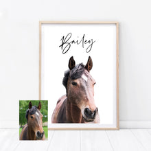 Load image into Gallery viewer, Custom Horse Print
