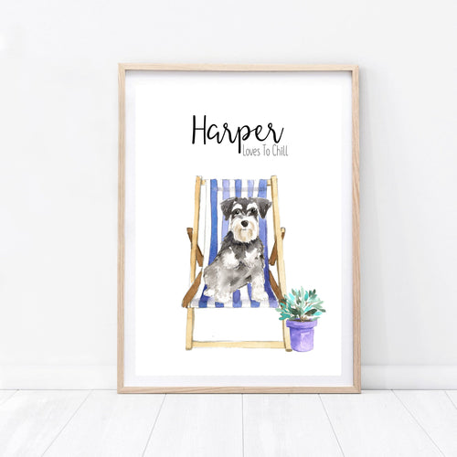 Dog Print - Deck Chair - Wildfig & Co
