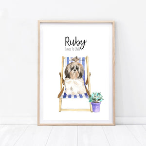 Deck Chair Dog Print - Wildfig & Co