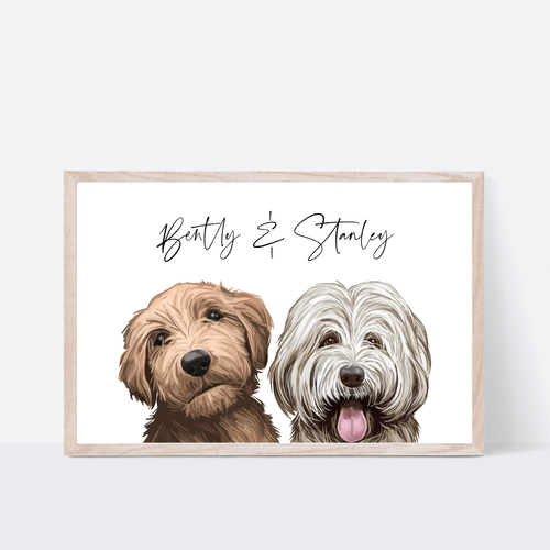 Duo Dog Print - Wildfig & Co
