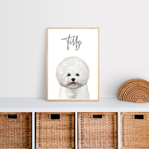 Persoanlised Dog Wall Art - Peekaboo - Wildfig & Co