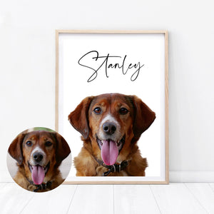 Custom Dog Oil Painted Print - Wildfig & Co