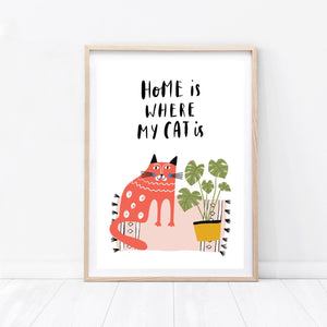 Home Is Where My Cat Is - Cat Print
