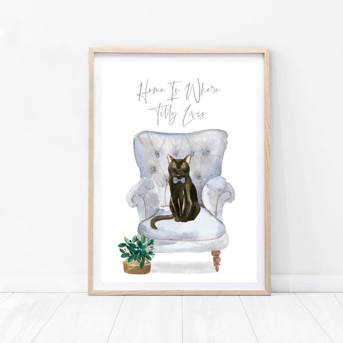 Personalised Cat Print - Wildfig & Co