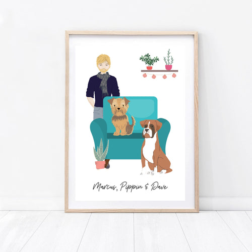 Personalised Pet Owner Print - Wildfig & Co