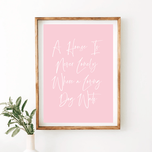 Dog House Quote Print - Wildfig & Co