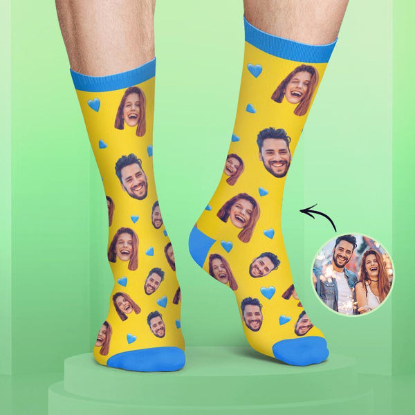 Colorful Candy Series Custom Couple Face Socks