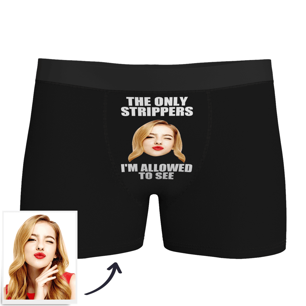 Men's Custom Strippers Face Boxer Shorts