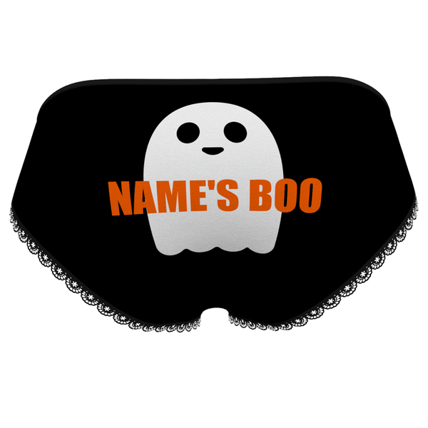 Halloween Women's Custom Property of Name Ghost Panties