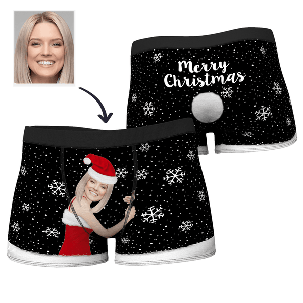 Men's Christmas Custom Face on Body Boxers Shorts