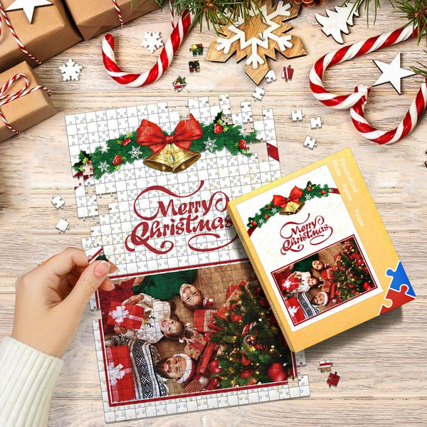 Custom Photo Jigsaw Puzzle Merry Christmas