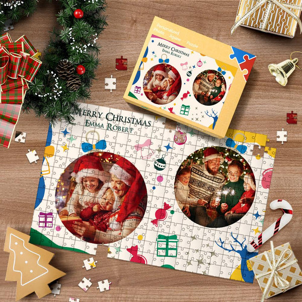 Custom Photo Jigsaw Puzzle Christmas Gifts For Family