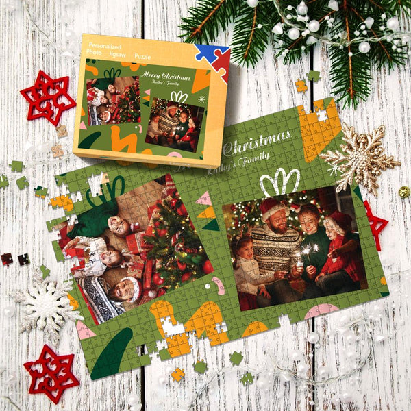 Custom Multiple Photo Jigsaw Puzzle Christmas Gifts Puzzle