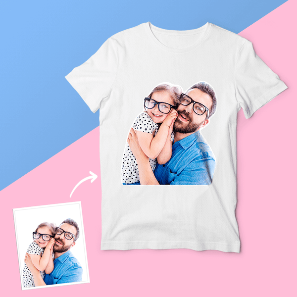 Gifts for Father Custom Photo T-shirt