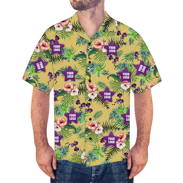 Custom Logo Shirt Men's Hawaiian Shirt