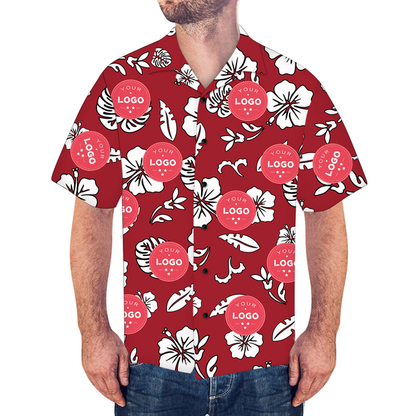Custom Logo Shirt Men's Hawaiian Shirt Lily Flowers