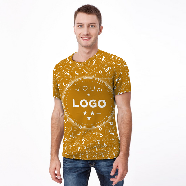 Custom My Logo Men's Shirt All Over Print T-shirt