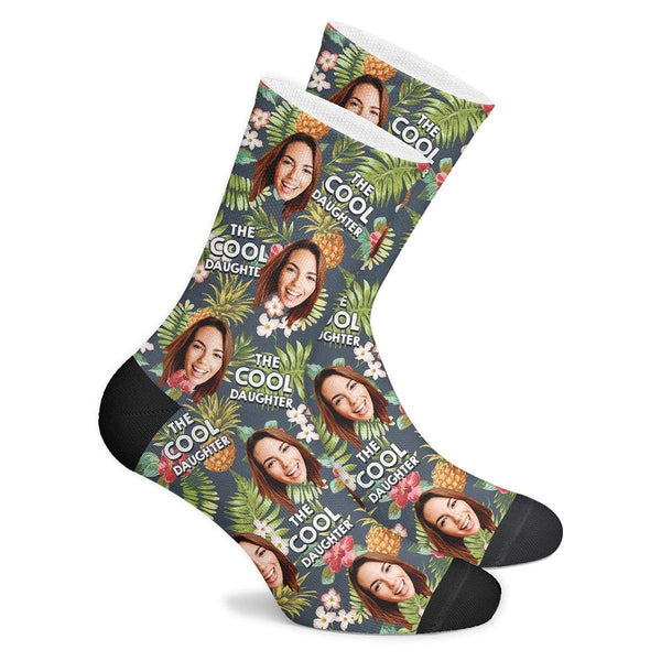 Cool Daughter Tropical Custom Face Socks