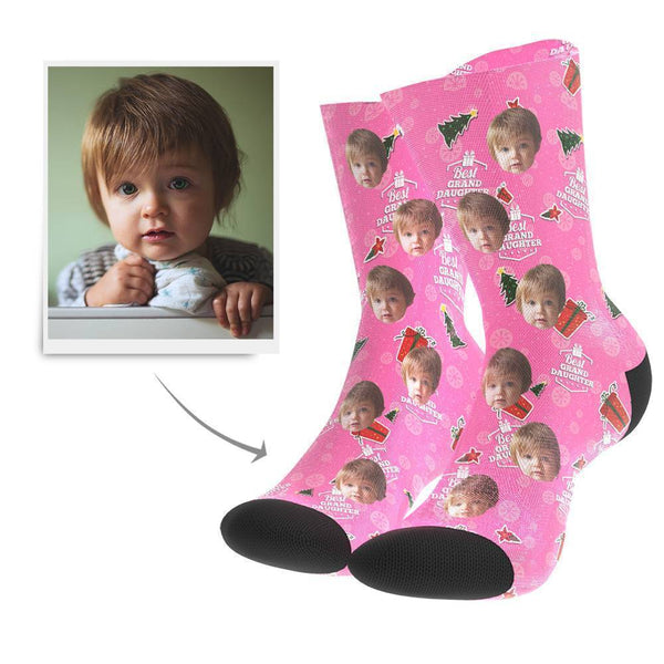 Christmas Gift Custom Face Socks (Grand Daughter)