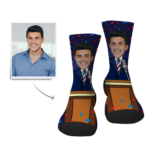 Custom President Face Socks