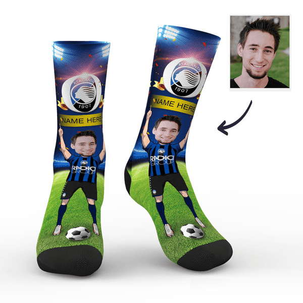 Custom Atalanta B.C. Super Fans Face Socks | Serie A 2019/20 Season