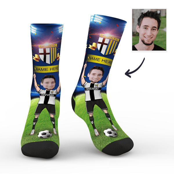 Custom Parma Calcio 1913 Super Fans Face Socks | Serie A 2019/20 Season