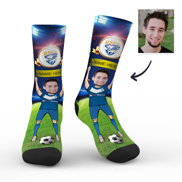 Custom Brescia Calcio Super Fans Face Socks | Serie A 2019/20 Season