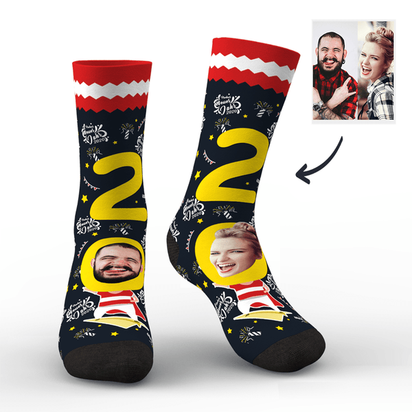 Custom Face Socks for 2020 Austria New Year's Gift