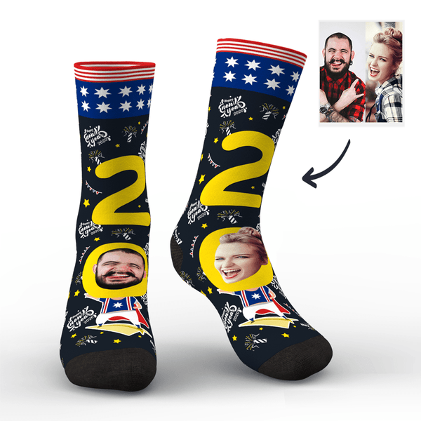 Custom Face Socks for 2020 Australia New Year's Gift