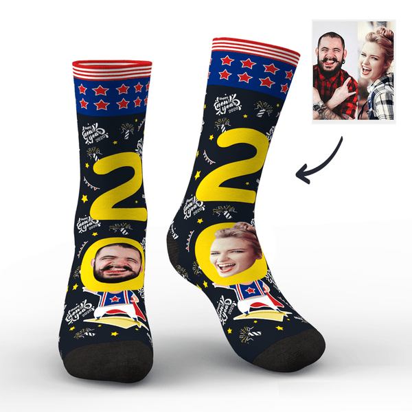 Custom Face Socks for 2020 New Zealand New Year's Gift