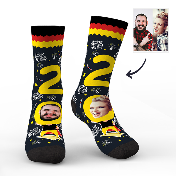 Custom Face Socks for 2020 Germany New Year's Gift
