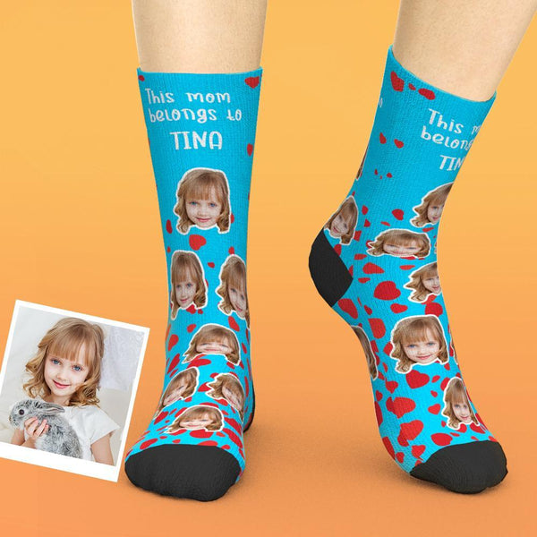 Custom Mother's Day Socks with Child Face