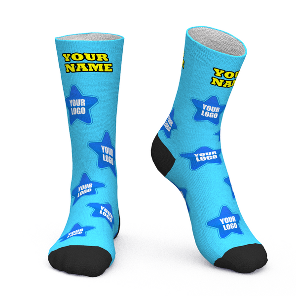 Custom Face Socks Add Logo And Name Personalized Gifts For Your Clients