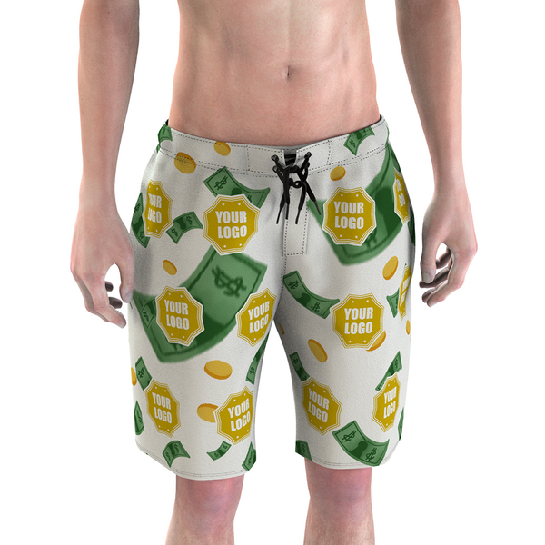 Custom Men's Mash Photo Swim Trunk with Your Logo