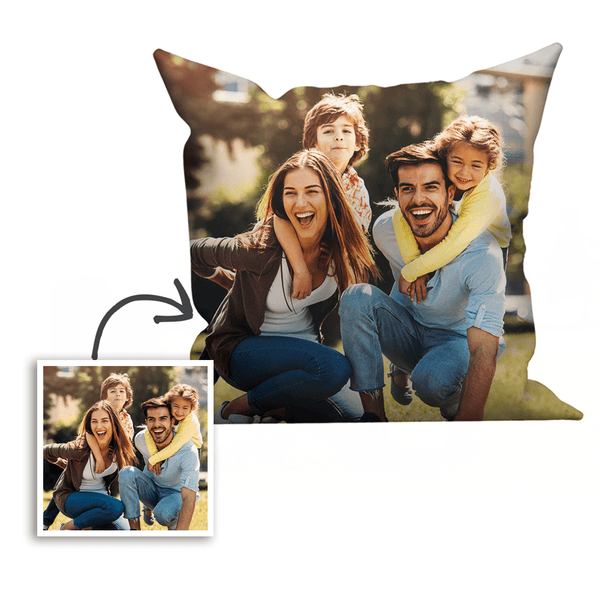 Custom Family Photo Pillowcase Throw Pillow 40×40
