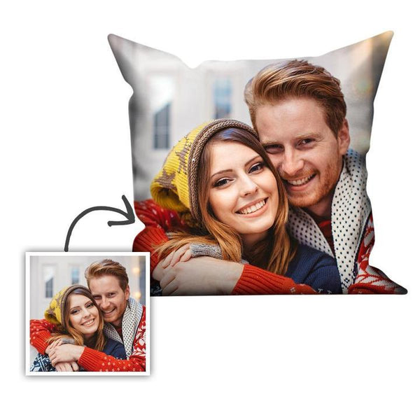 Custom Couple Photo Pillowcase Throw Pillow 40×40