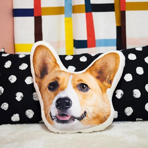 Custom Dog Photo Pillow 3D Pet Face Portrait Throw Pillow
