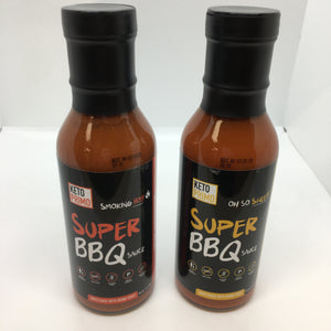 Keto Primo Super BBQ Sauce, 12 oz, Oh So Sweet or Smoking Hot