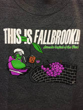 "Load image into Gallery viewer, ""This is Fallbrook!!! Avocado Capital of the World "" grey crew neck T-shirt"