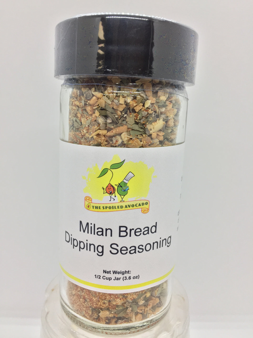 Milan Bread Dipping Seasoning, Salt Free, 3.6 oz