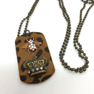 Designer ID tag necklace
