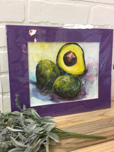 Load image into Gallery viewer, Matted Original Avocado Watercolors by local artist DEA