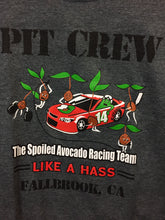 "Load image into Gallery viewer, ""Pit Crew Spoiled Avocado Racing Team"" women's T-shirt"