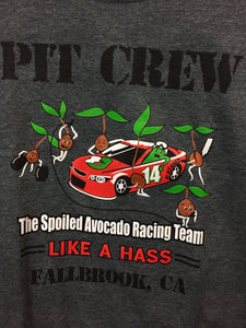 """Pit Crew Spoiled Avocado Racing Team"" women's T-shirt"